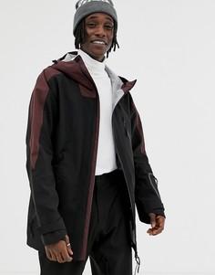Зимняя куртка с контрастной вставкой ASOS 4505 - Черный
