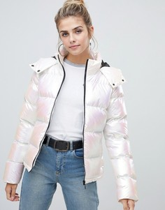 Дутая куртка с блестящим эффектом Brave Soul - Белый