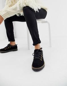 Замшевые туфли на плоской подошве ASOS DESIGN Mazing - Черный