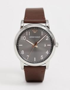 Часы с кожаным ремешком Emporio Armani AR11175 Luigi 43 мм - Темно-синий