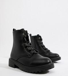 Ботильоны для широкой стопы на шнуровке Truffle Collection - Черный