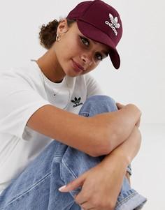 Бордовая кепка с логотипом adidas Originals - Красный