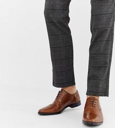 Светло-коричневые кожаные оксфордские туфли со вставкой на носке ASOS DESIGN - Рыжий