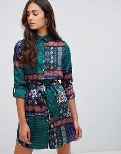 Платье-рубашка с платочным принтом Parisian - Мульти