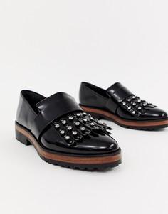 Туфли на плоской подошве с отделкой ASOS DESIGN - Черный