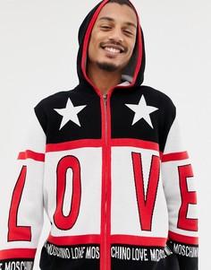 Трикотажная куртка на молнии Love Moschino - Черный