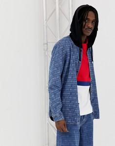Куртка с капюшоном и принтом Love Moschino - Синий
