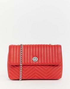 Стеганая сумка через плечо Pull&bear - Красный