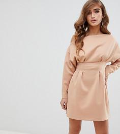 Платье мини на одно плечо ASOS DESGIN Petite - Розовый