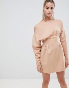 Платье мини на одно плечо ASOS DESIGN - Розовый