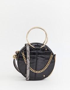 Черная сумка через плечо с круглой ручкой River Island - Черный