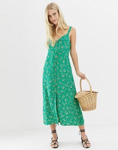 Платье миди Faithfull Este - Зеленый