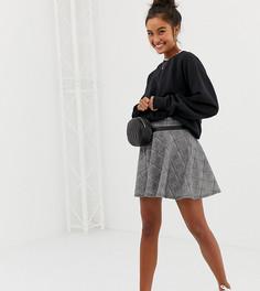 Мини-юбка в клетку Wednesdays Girl - Серый