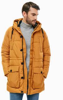 Оранжевая куртка с карманами и капюшоном Jack & Jones
