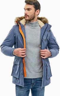 Синяя куртка с карманами и капюшоном Jack & Jones