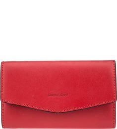 Красный кожаный кошелек с откидным клапаном Gianni Conti