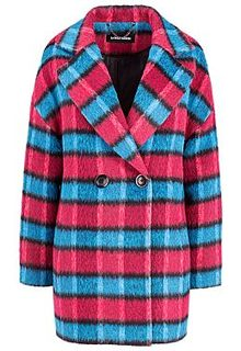 Короткое пальто в яркую клетку La Reine Blanche