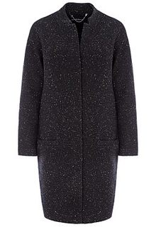 Черное твидовое пальто La Reine Blanche