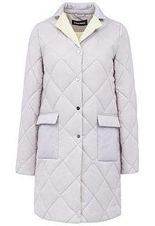 Пальто на синтепоне с контрастным воротником La Reine Blanche