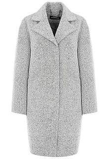 Серое твидовое пальто La Reine Blanche