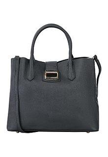Черная кожаная сумка La Reine Blanche