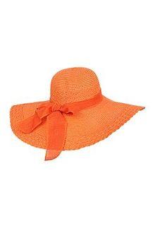 Оранжевая соломенная шляпа Sophie Ramage