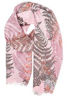 Розовый шарф с принтом Fabretti