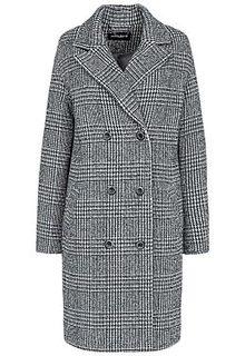 Серое пальто в клетку La Reine Blanche