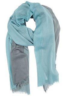 Голубой шарф Fabretti