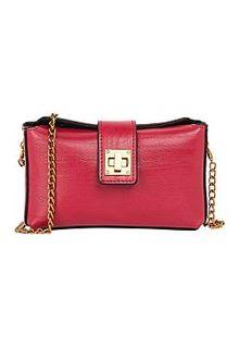 Красный кожаный клатч La Reine Blanche