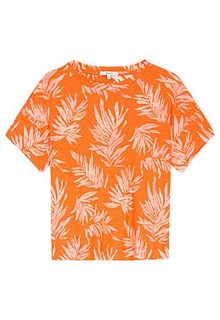 Оранжевая футболка с принтом Pepe Jeans London