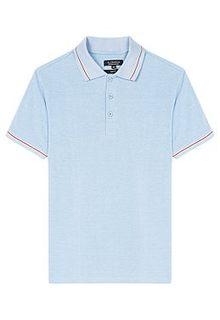 Голубая футболка-поло Al Franco