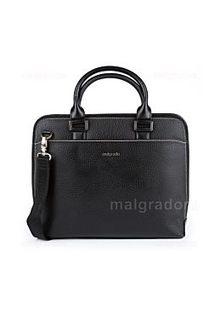 Черная сумка из натуральной кожи Malgrado