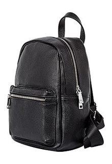 Черный кожаный рюкзак La Reine Blanche