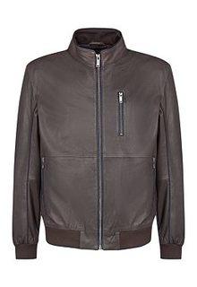 Кожаная куртка с трикотажной отделкой Urban Fashion for men