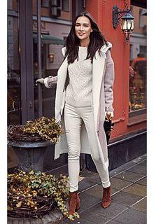 текстильное утепленное пальто О-силуэта La Reine Blanche