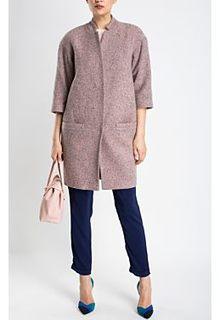 Лаконичное пальто из фактурной ткани La Reine Blanche