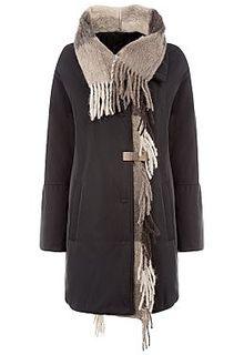 Утепленная куртка с отделкой трикотажем Violanti