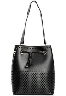 Кожаная сумка-шоппер с перфорацией La Reine Blanche