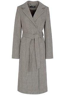 Пальто в клетку La Reine Blanche