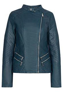 Куртка из натуральной кожи La Reine Blanche