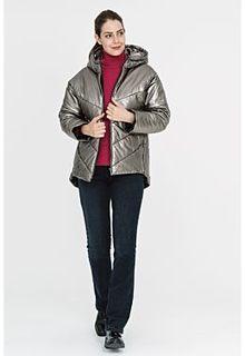 Утепленная куртка из металлизированной кожи La Reine Blanche