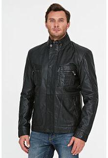 Утепленная куртк аиз натуральной кожи Jorg Weber