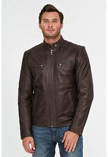 Утепленная кожаная куртка Jorg Weber