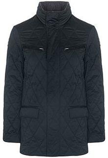 Утепленная куртка с отделкой натуральной кожей Vittorio Emanuele