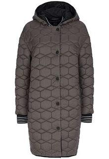 Утепленное пальто с отделкой трикотажем Laura Bianca