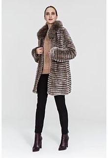 Облегченная шуба из меха кролика Virtuale Fur Collection