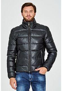 Стеганая кожаная куртка на натуральной пуху Urban Fashion for men