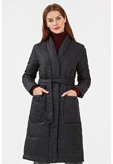 Утепленное пальто с поясом Neohit