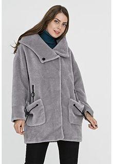 Облегченная шуба из овчины с капюшоном Virtuale Fur Collection